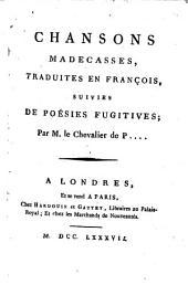 Chansons madecasses: tr. en françois, suivies de Poésies fugitives