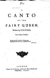 A Canto of the Fairy Queen