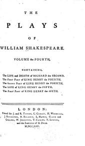 The Plays of William Shakespeare in Eight Volumes: With the Corrections and Illustrations of Various Commentators; to which are Added Notes by Sam Johnson, Volume 4