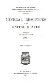 Mineral resources of the United States: Volume 1
