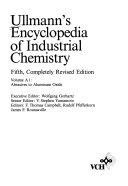 Ullmann's Encyclopedia of Industrial Chemistry, Abrasives to Aluminum Oxide