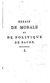 Essais de morale et de politique