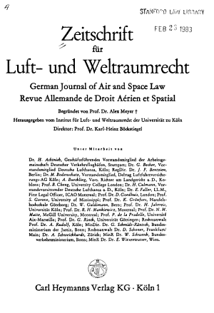 German journal of air and space law PDF