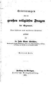 Erörterungen über die grossen religiösen Fragen der Gegenwart