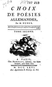 Choix De Poésies Allemandes: Volume2