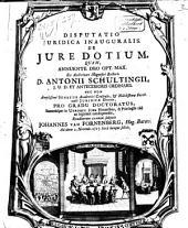 Disputatio juridica inauguralis. De jure dotium