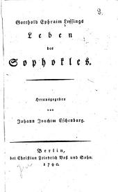 Gotthold Ephraim Lessings Leben des Sophokles