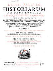 T. Livii Patavini Historiarum ab urbe condita libri qui supersunt omnes: Liber X-XXVI