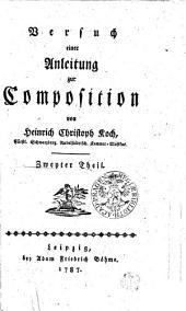 Versuch einer Anleitung zur Composition: Zweyter Theil, Band 2