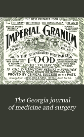 The Georgia Journal of Medicine and Surgery: Volume 4, Issue 4