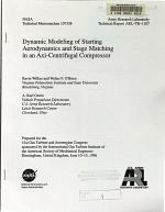 Dynamic Modeling of Starting Aerodynamics and Stage Matching in an Axi-Centrifugal Compressor