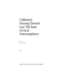 California S Housing Element Law Book PDF