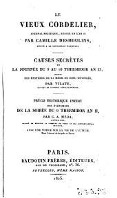 Le vieux cordelier: Journal politique rédigé en l'an II