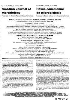Canadian Journal of Microbiology PDF