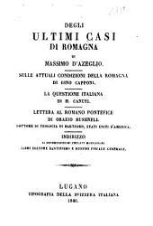 Degli ultimi casi di Romagna: di Massimo d'Azeglio