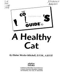 The Complete Idiot s Guide to a Healthy Cat PDF