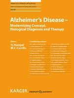Alzheimer s Disease   Modernizing Concept  Biological Diagnosis and Therapy PDF