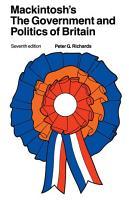 Mackintosh s The Government and Politics of Britain PDF