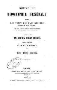 Nouvelle biographie g  n  rale depuis les temps les plus recul  s jusqu    nos jours avec les renseignements bibliographiques et l indication des sources    consulter PDF