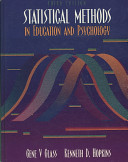 Statistical Methods in Education and Psychology Book