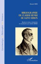 Bibliographie de Claude-Henri de Saint-Simon