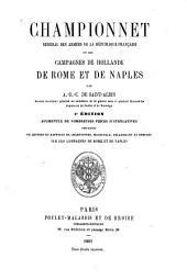 Championnet général des armées de la République française, ou Les campagnes de Hollande de Rome et de Naples par A.-R.-C. de Saint-Albin