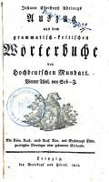 Johann Christoph Adelungs Auszug aus dem grammatisch kritischen W  rtebuche der hochdeutschen Mundart PDF