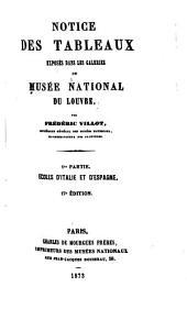 Notice des tableaux exposés dans les galeries du Musée national du Louvre ...