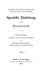 Handbuch der historisch-kritischen Einleitung in das A. T.: Pentateuch
