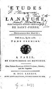 Études De La Nature: Volume1