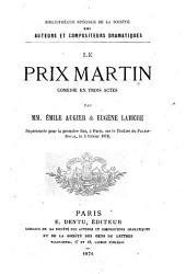 Le prix Martin: comédie en trois actes