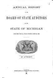 Annual Report of the Board of State Auditors for the State of Michigan for the Year ...