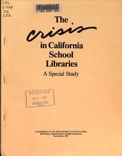 The Crisis in California School Libraries PDF