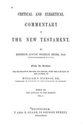 Critical and Exegetical Commentary on the New Testament: Mark and Luke
