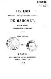 Les lois morales religieuses et civiles de Mahomet: extraites du Koran