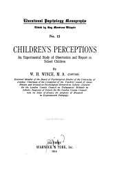 Children's Perceptions: An Experimental Study of Observations and Reports in School Children