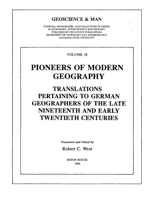 Pioneers of Modern Geography
