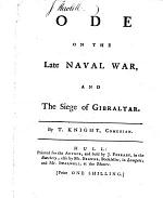 Ode on the late Naval War and the Siege of Gibraltar