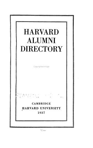 Harvard Alumni Directory