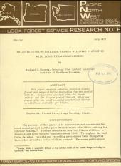 Selected 1966-69 Interior Alaska Wildfire Statistics with Long-term Comparisons