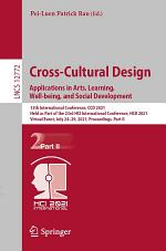 Cross-Cultural Design. Applications in Arts, Learning, Well-being, and Social Development
