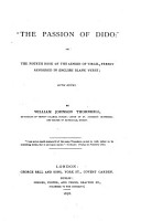 The Passion of Dido   Or  The Fourth Book of the Aeneid of Virgil PDF
