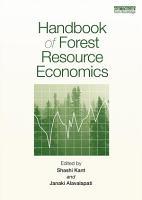Handbook of Forest Resource Economics PDF