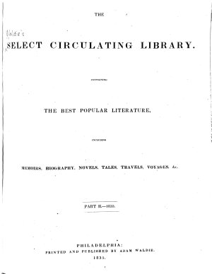 Waldie s Select Circulating Library PDF