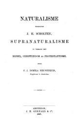 Naturalisme tegenover J.H. Scholten, Supranaturalisme in verband met Bijbel, Christendom en Protestantisme