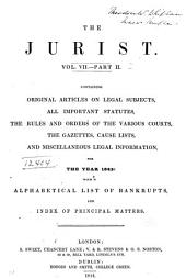 The Jurist: Volume 7, Part 1