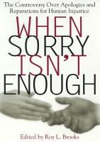 When Sorry Isn t Enough PDF