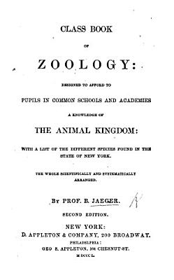 Class Book of zoology     Second edition