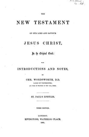 The New Testament of Our Lord and Saviour Jesus Christ  in the Original Greek PDF