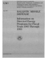 Ballistic Missile Defense PDF